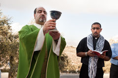 Chrétiens palestiniens Images libres de droits