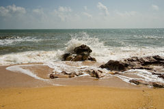Cherating Waves. Waves crashing on Cherating beach stock photos