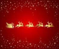 ChRed background with Santa Stock Photos