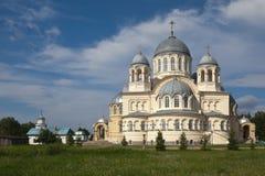 Chrestovozdvuzhenskiy Cathedral. Verkhoturye, Sverdlovsk region. Royalty Free Stock Photography