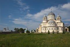 Chrestovozdvuzhenskiy Cathedral. Verkhoturye, Sverdlovsk region. Stock Photography