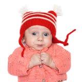 Chéri joyeuse dans un chapeau Image libre de droits