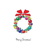 Chriastmas bauble wreath Royalty Free Stock Photos
