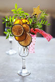 Christmas decoration with citrus canes Stock Image
