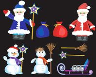Chriistmas,New Year  icons Stock Image