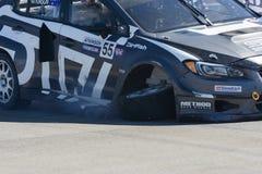 Chris Atkinson 55, drijft een STI van Subaru WRX auto, tijdens Rode B Royalty-vrije Stock Afbeelding