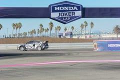 Chris Atkinson 55, drijft een STI van Subaru WRX auto, tijdens Rode B Stock Foto's