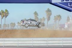 Chris Atkinson 55, drijft een STI van Subaru WRX auto, tijdens Rode B Stock Afbeelding
