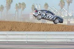 Chris Atkinson 55, drives a Subaru WRX STI car, during the Red B Royalty Free Stock Image