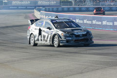 Chris Atkinson 55, drives a Subaru WRX STI car, during the Red B Royalty Free Stock Image