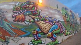 Chris barwiarki malowidło ścienne Zdjęcie Royalty Free