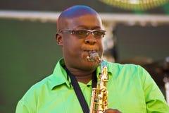 Chris Bittok Saxophonist stock photography