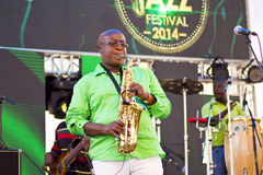Chris Bittok Saxophonist Stock Image