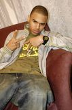 Chris Brown. R&B singer Chris Brown backstage at a show taping Stock Photos