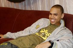 Chris Brown. R&B singer Chris Brown backstage at a show taping Stock Images