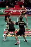 Chris Bruil and Karina de Wit - Badminton stock photography