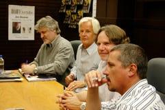 Chris Carter, Frank Spotnitz, Rob Boogschutter Royalty-vrije Stock Foto
