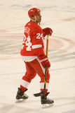 Chris Chelios Watches The Play Foto de archivo