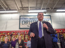 Chris Christie Town Hall Meeting Stockfotos
