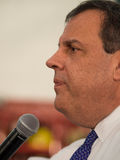 Chris Christie Town Hall Meeting Stockbild