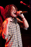 Chris Cornell Live Performance. Chris Cornell sings during a live musical performance Stock Image