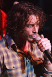 Chris Cornell Live Performance. Chris Cornell sings during a live musical performance Royalty Free Stock Photo