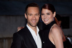 Chris Diamantopoulos and Debra Messing Royalty Free Stock Images