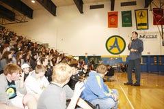Chris Dudley donnant un discours Images libres de droits