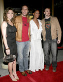 Chris Evans, Dane Cook, Jessica Biel and Joy Bryant Stock Photos