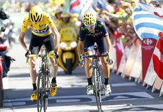 Chris Froome and Alejendro Valverde Tour de France 2015 Stock Photography