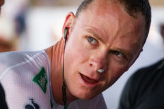 Chris Froome (team sky) Royalty Free Stock Photo
