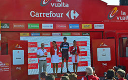 Chris Froome Team Sky On The Podium La Vuelta España Stock Images