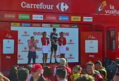 Chris Froome Team Sky On The Podium La Vuelta España Royalty Free Stock Photos