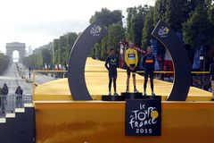 Chris Froome 2015 Tour de France Royalty Free Stock Images