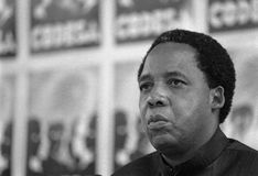 Chris Hani 1991. SOUTH AFRICA Johannesburg -- 21 Dec 1991 -- SACP politican Chris Hani at the CODESA meeting at Kempton Park in Johannesburg South Africa Stock Image