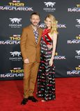 Chris Hardwick and Lydia Hearst Stock Photo