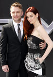 Chris Hardwick and Lydia Hearst Stock Image