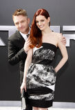 Chris Hardwick and Lydia Hearst Royalty Free Stock Images