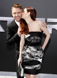 Chris Hardwick and Lydia Hearst Royalty Free Stock Photography