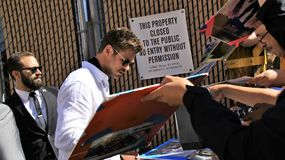 Chris Hemsworth στο στούντιο Kimmel Στοκ Εικόνες
