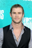 Chris Hemsworth arriving at the 2012 MTV Movie Awards Royalty Free Stock Photos