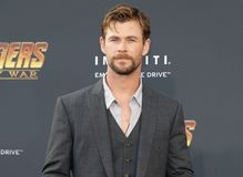 Chris Hemsworth. At the premiere of Disney and Marvel`s `Avengers: Infinity War` held at the El Capitan Theatre in Hollywood, USA on April 23, 2018 stock image