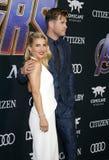 Chris Hemsworth e Elsa Pataky immagine stock libera da diritti