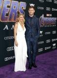 Chris Hemsworth e Elsa Pataky fotografia stock libera da diritti