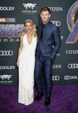 Chris Hemsworth and Elsa Pataky royalty free stock photos