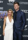 Chris Hemsworth and Elsa Pataky stock photography