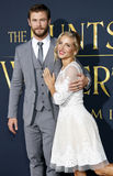 Chris Hemsworth and Elsa Pataky Royalty Free Stock Photography
