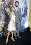 Chris Hemsworth and Elsa Pataky Royalty Free Stock Photo