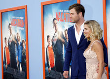 Chris Hemsworth and Elsa Pataky Stock Images