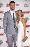 Chris Hemsworth and Elsa Pataky Royalty Free Stock Photography